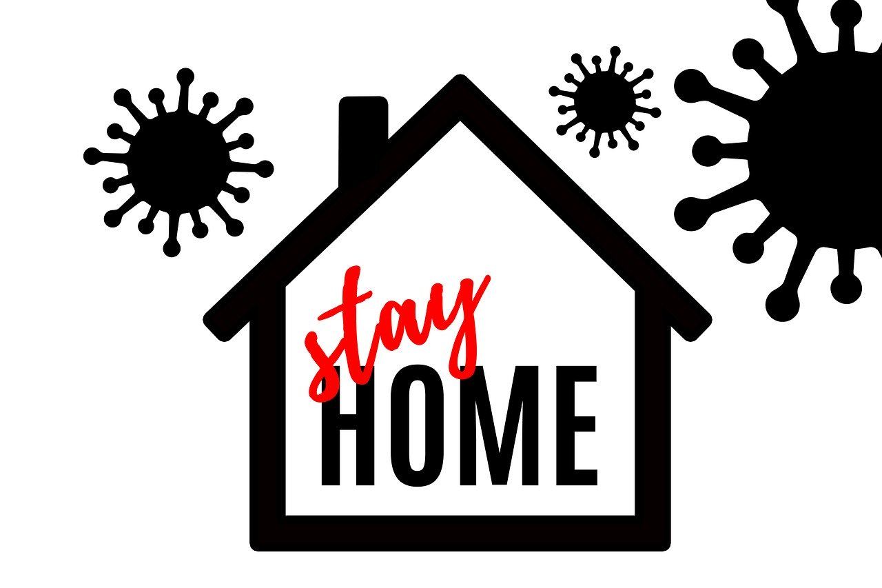 stay home house graphic