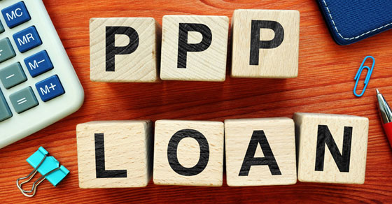 PPP Loan written in letter blocks